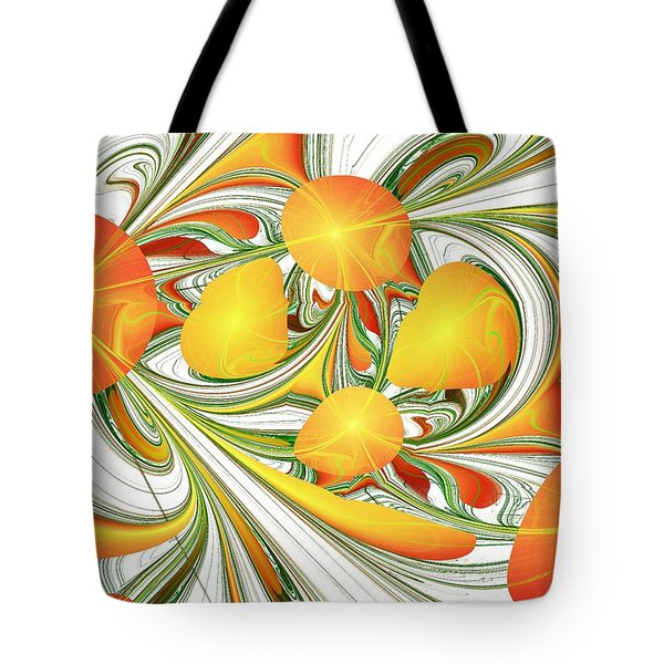Orange Attitude Tote Bag by Anastasiya Malakhova