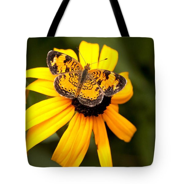 Orange Butterfly Tote Bag by Lena Auxier