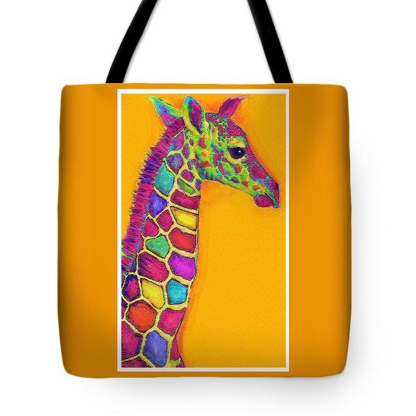 Orange Carosel Giraffe Tote Bag by Jane Schnetlage