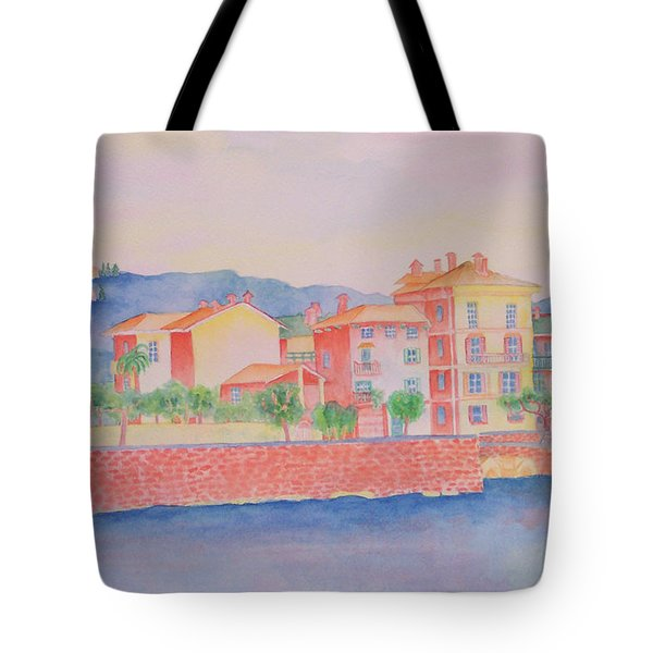 Orange Fisherman's Island Tote Bag by Rhonda Leonard