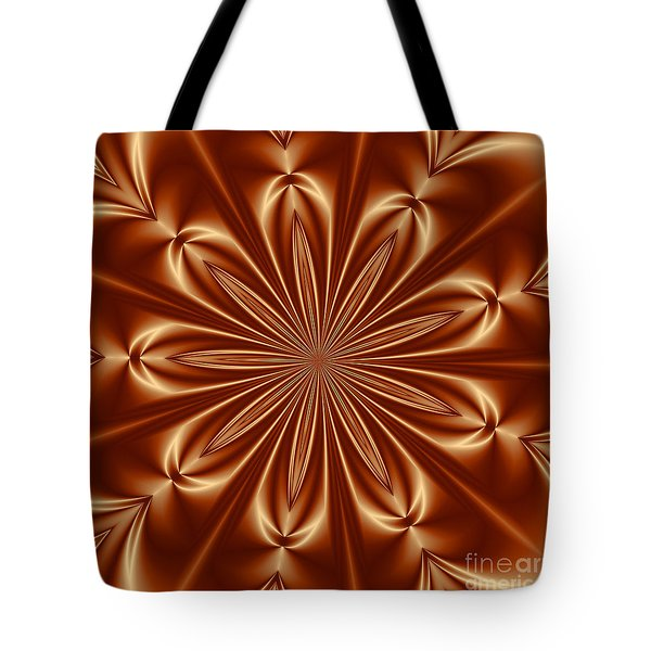 Orange Flower Burst Photoart Tote Bag by Becky Hayes