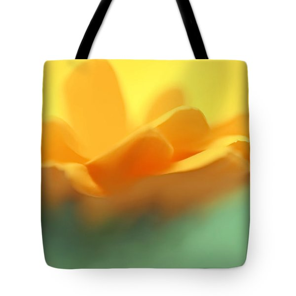 Orange Flower Petals Abstract Tote Bag by Jennie Marie Schell