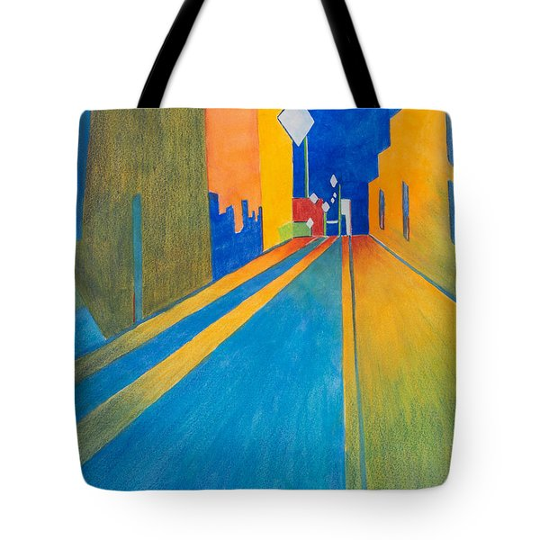 Orange France At Night Tote Bag by Lee Beuther