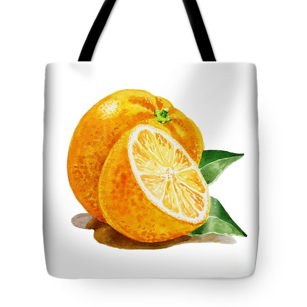 Orange Tote Bag by Irina Sztukowski