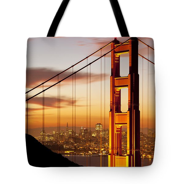 Orange Light at Dawn Tote Bag by Brian Jannsen