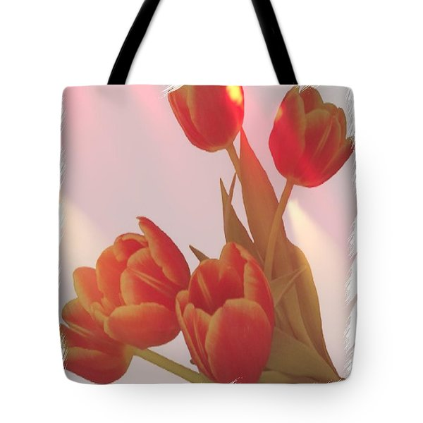 Orange Light Tote Bag by Debra  Miller