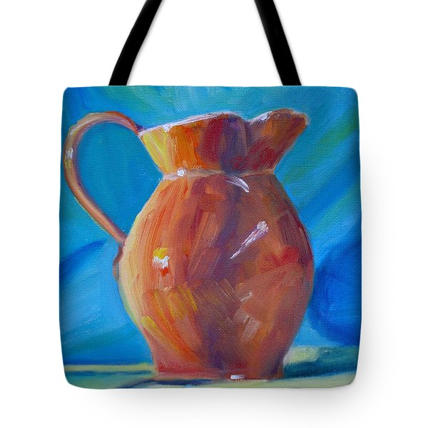 Orange Pitcher Still Life Tote Bag by Donna Tuten