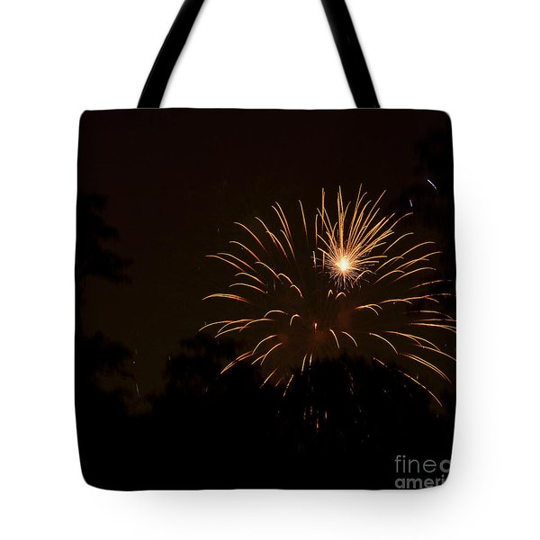 Orange Rocket Bursts Tote Bag by Linda Steele