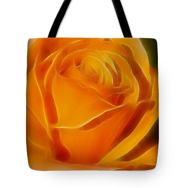 Orange Rose 6291-fractal Tote Bag by Gary Gingrich Galleries