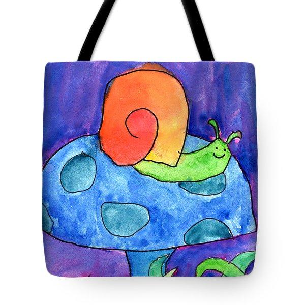 Orange Snail Tote Bag by Nick Abrams Age Twelve