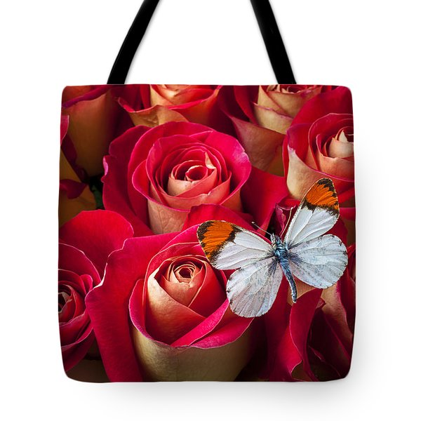 Orange tip butterfly Tote Bag by Garry Gay
