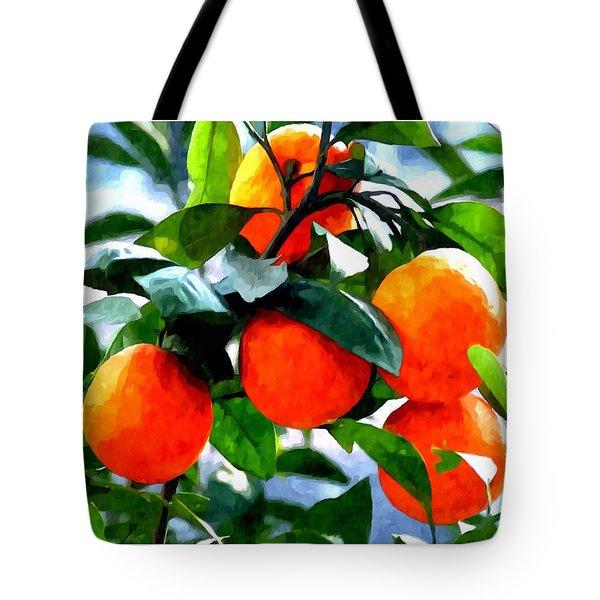 Orange Tree In Springtime  Tote Bag by Lanjee Chee