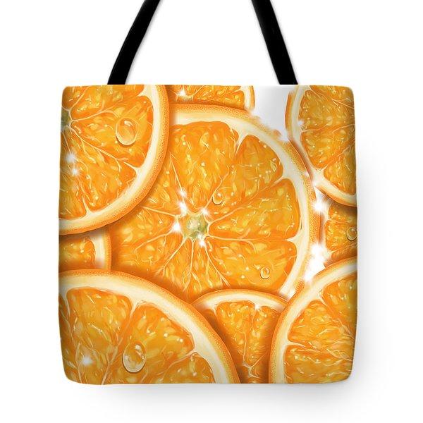 Orange Tote Bag by Veronica Minozzi