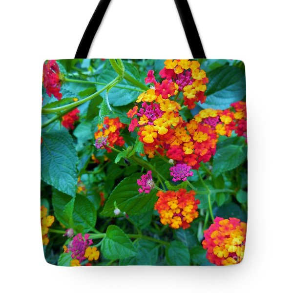 Orange... Yellow... Mauve... And Red Tote Bag by Eloise Schneider