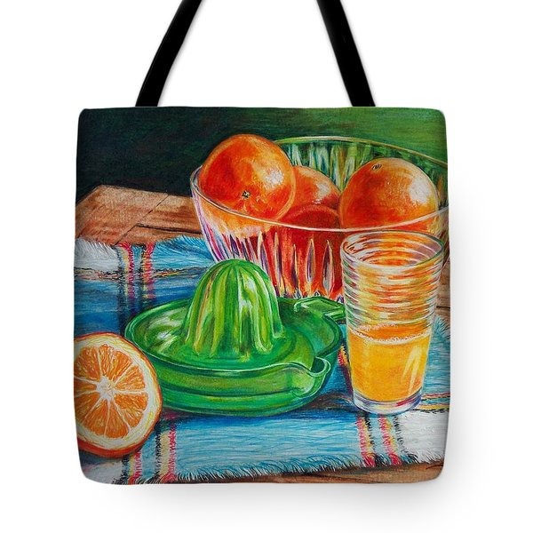 Oranges Tote Bag by Joy Nichols