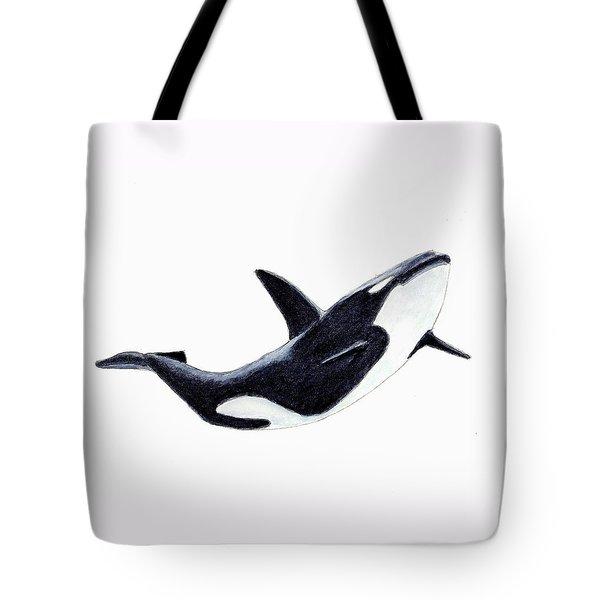 Orca - Killer Whale Tote Bag by Michael Vigliotti