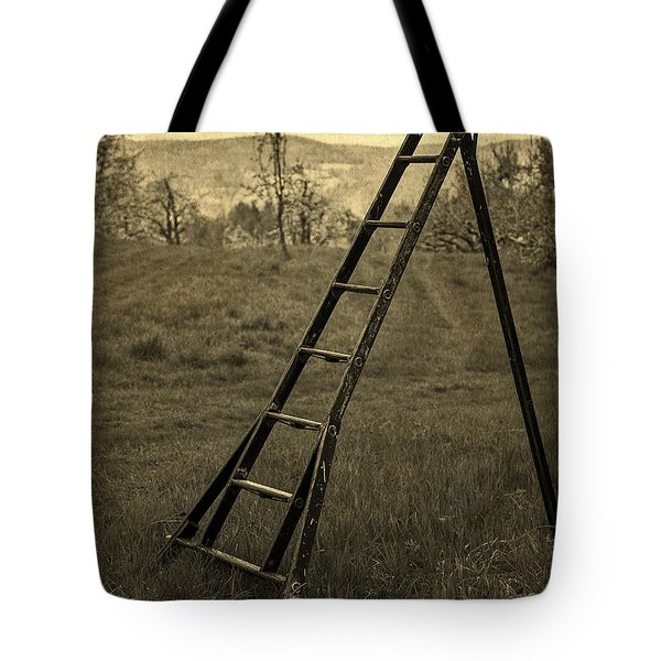 Orchard Ladder Tote Bag by Edward Fielding