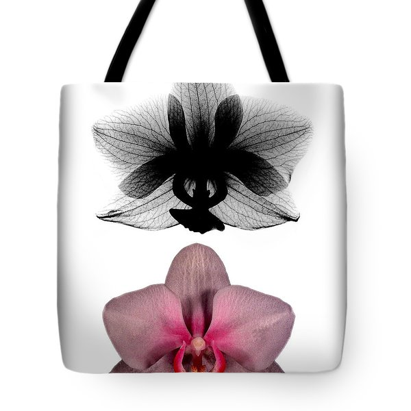 Orchid And Its X-ray Tote Bag by Bert Myers