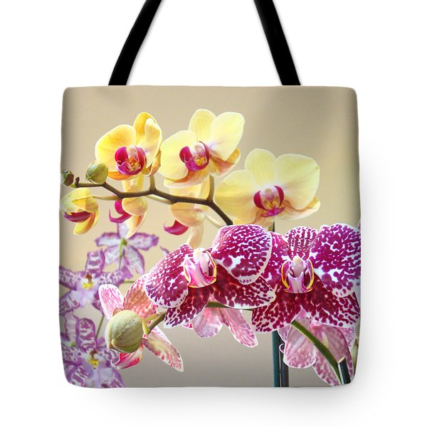 Orchid Art Prints Orchids Flowers Floral Bouquets Tote Bag by Baslee Troutman
