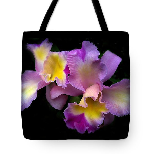 Orchid Embrace Tote Bag by Jessica Jenney