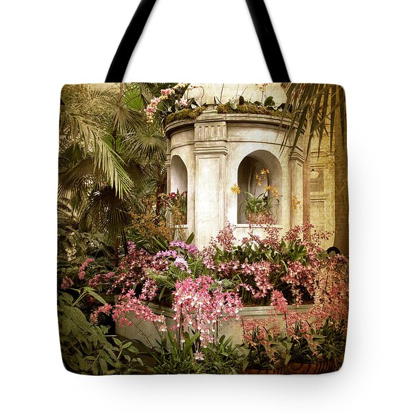 Orchid Exhibition Tote Bag by Jessica Jenney