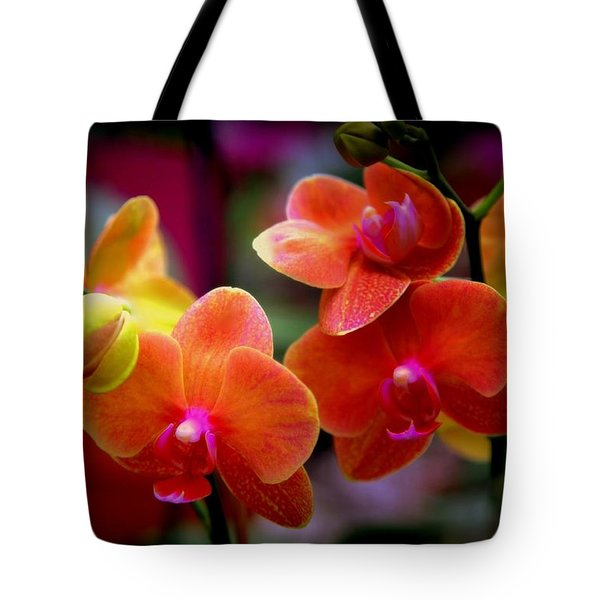 Orchid Melody Tote Bag by Karen Wiles