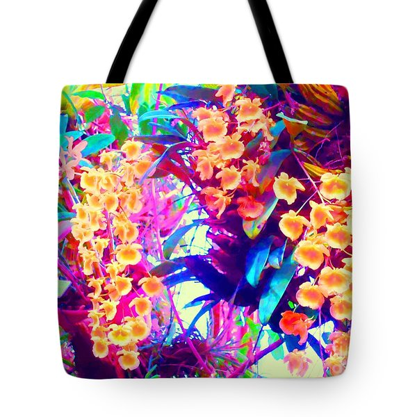 Orchid Splash Tote Bag by Ann Johndro-Collins