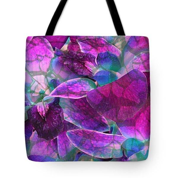 Orchid Splash Tote Bag by Diane Alexander