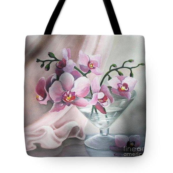 Orchids Tote Bag by Vesna Martinjak