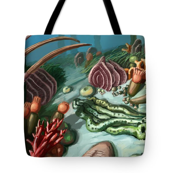 Ordovician Period Scene Tote Bag by Spencer Sutton