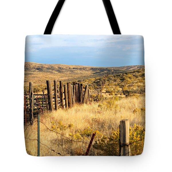Oregon Corral Tote Bag by Betty LaRue