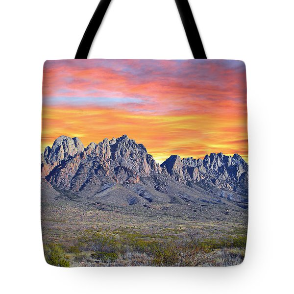 Organ Mountain Sunrise Tote Bag by Jack Pumphrey
