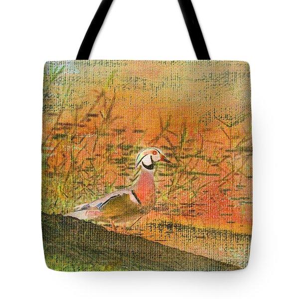 Oriental Duck Tote Bag by Deborah Benoit