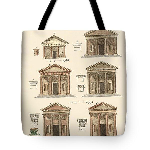 Origin And Development Of Architecture Tote Bag by Splendid Art Prints