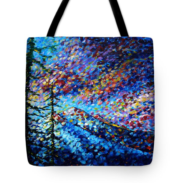 Original Abstract Impressionist Landscape Contemporary Art By Madart Mountain Glory Tote Bag by Megan Duncanson