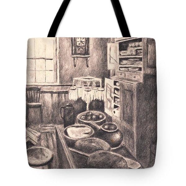 Original Old Fashioned Kitchen Tote Bag by Kendall Kessler