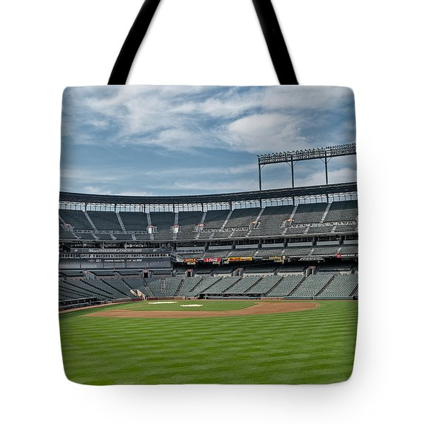 Oriole Park at Camden Yards Stadium Tote Bag by Susan Candelario