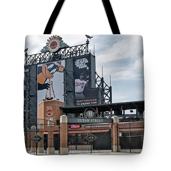 Oriole Park At Camden Yards Tote Bag by Susan Candelario