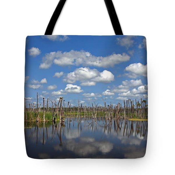 Orlando Wetlands Cloudscape 3 Tote Bag by Mike Reid