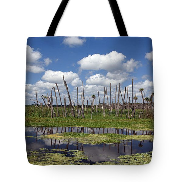 Orlando Wetlands Cloudscape Tote Bag by Mike Reid