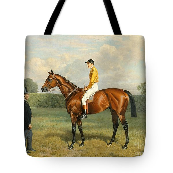 Ormonde Winner Of The 1886 Derby Tote Bag by Emil Adam