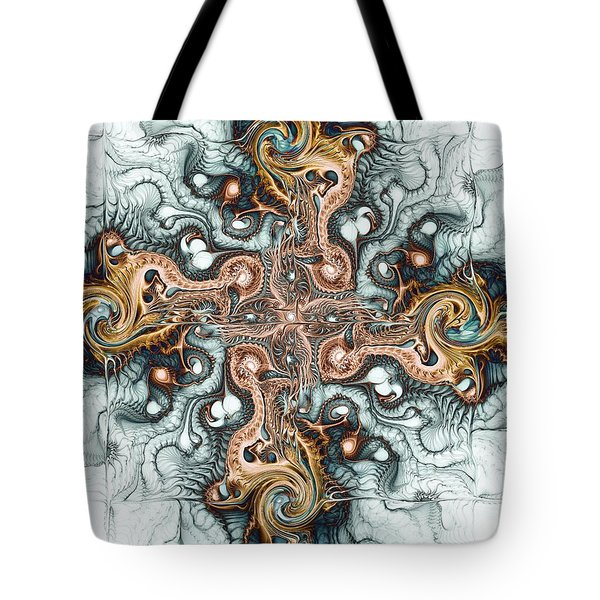 Ornate Cross Tote Bag by Anastasiya Malakhova