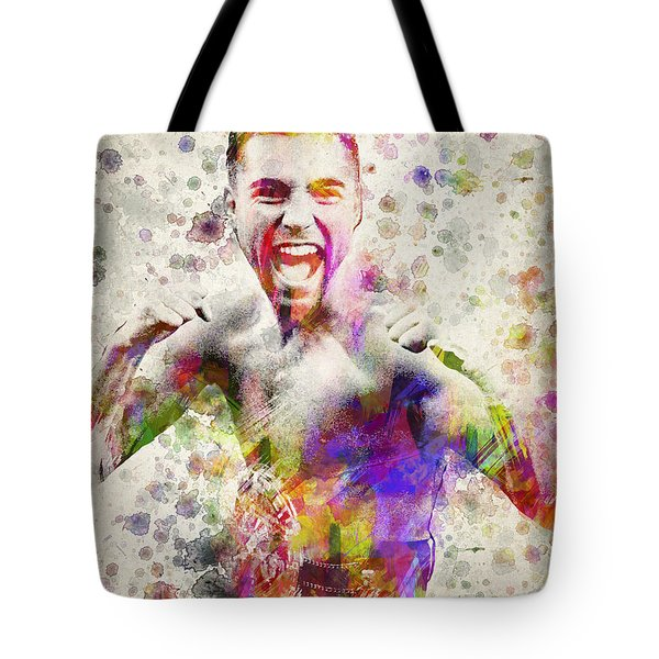 Oscar De La Hoya Tote Bag by Aged Pixel