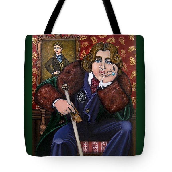 Oscar Wilde And The Picture Of Dorian Gray Tote Bag by Victoria De Almeida