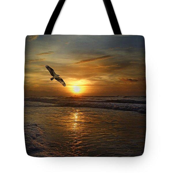 Osprey Sunrise Tote Bag by Betsy C  Knapp