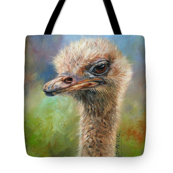 Ostrich Tote Bag by David Stribbling