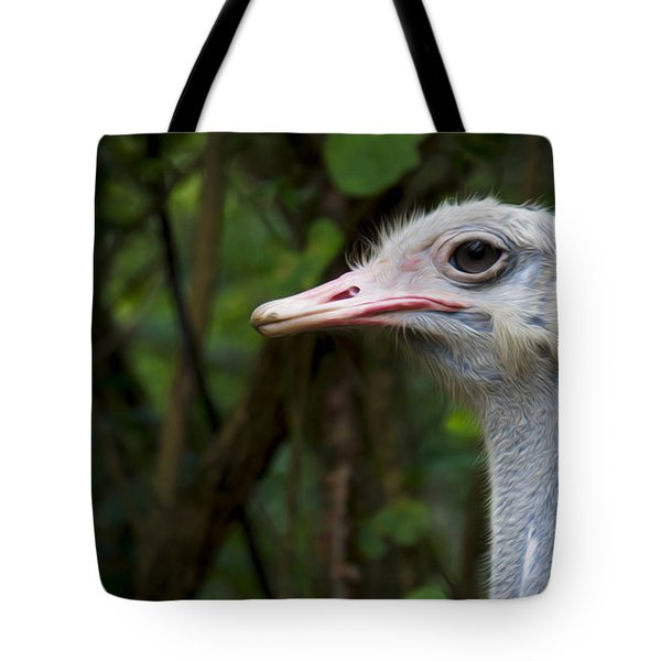 Ostrich Head Tote Bag by Aged Pixel