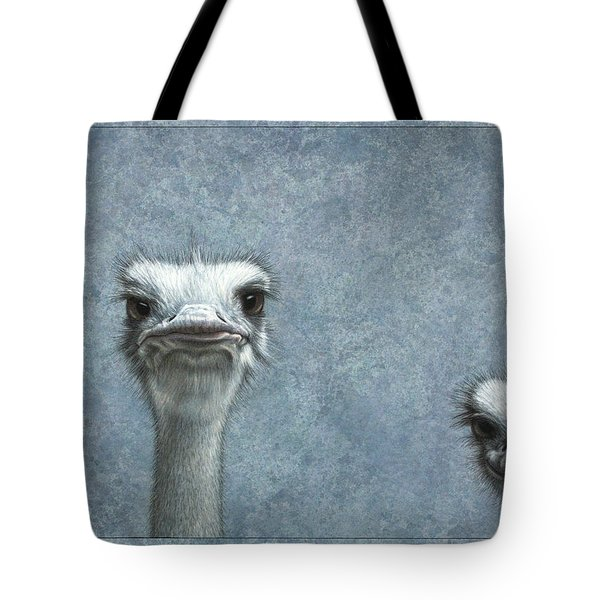 Ostriches Tote Bag by James W Johnson