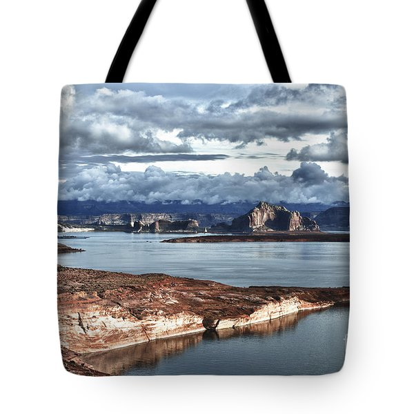 Otherworldly Morning At Lake Powell Tote Bag by Sandra Bronstein