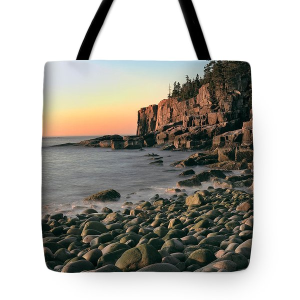 Otter Cliffs Tote Bag by Jerry Fornarotto